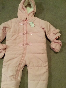 Brand new baby girl snow suit