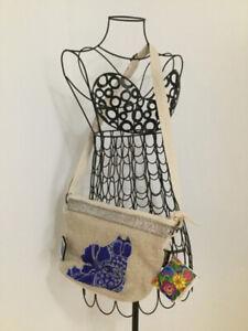 "Designer ""Laurel Burch"" Blossoming felines crossbody bag- NEW!"