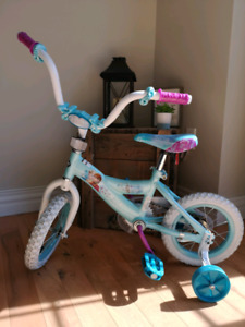Frozen Bicycle with Training Wheels
