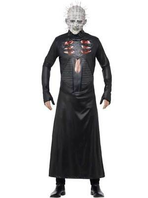 Adult Hellraiser Pinhead Costume Mens Halloween Fancy Dress Costume + Mask New