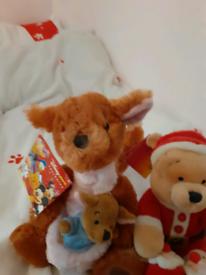 Winnie the pooh and kanga teddy