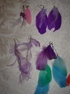 Feathered Earrings