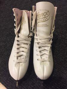 Girls White Figure Skates - Size 2