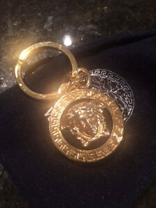 Versace Key holder chains gold Rock & Republic Medusa head logo