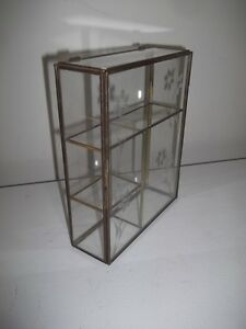 Brass and Glass Display Cabinet