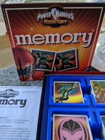 Power Rangers memory game