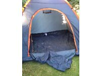 4 man Grey and Orange Tent