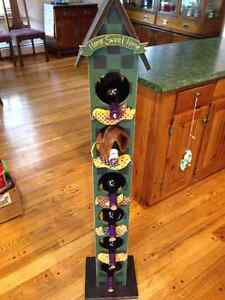 WINE RACK- folk art
