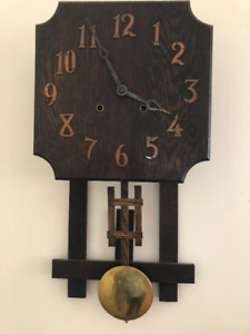 Antique, Mission Oak Wall Clock