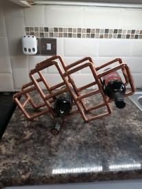Handmade Copper Wine Rack