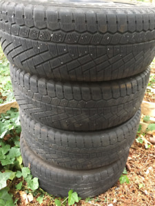 4 Continental Snow tires on steel rims