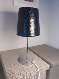 New Light Lamp black glitter mint condition 40cm