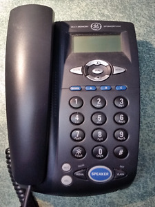GE Corded Phone with Speakerphone and Call Waiting Caller ID