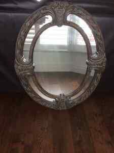 Bombay rich carved chocolate brown frame oval mirror