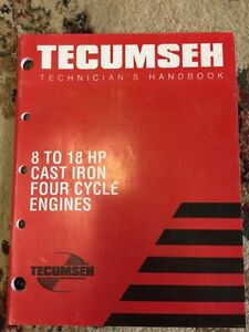 Tecumseh technicians handbook 8 to 18 HP