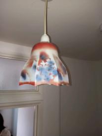 Victorian glass shade