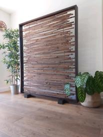 Bamboo Asian Oriental Room Divider Screen