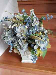 Wedgewood blue FLORAL ARRANGEMENT