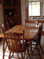 Maple Kitchen Dining Table For Sale