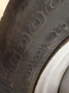 BF Goodrich Winter tires P205/60/16 used a few seasons