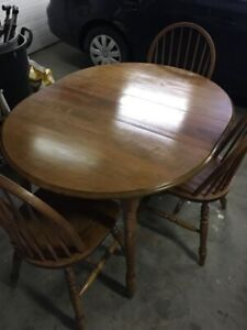 Hardwood dining or nook table