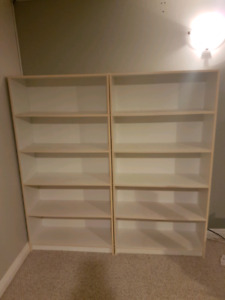 REDUCED pair of bookshelves