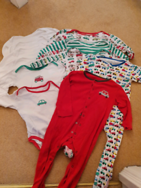 Mothercare etc Set of 9, 12 to 18 months and x2 18 to 24 sleepsuits.