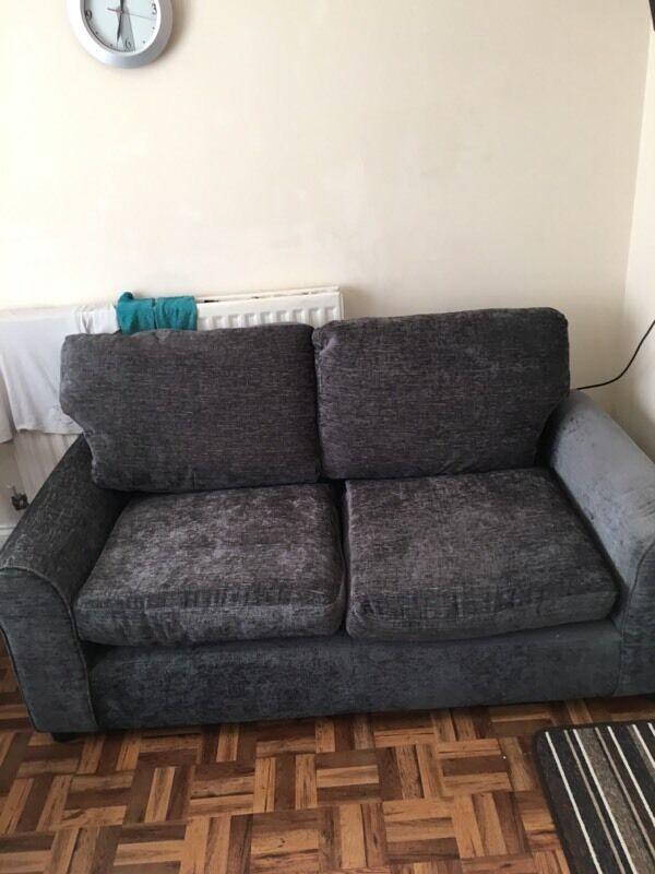 Tabitha Large Fabric Sofa And Arm Chair Charcoal