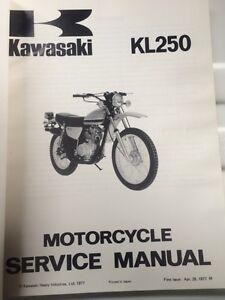 1977 1978 Kawasaki Factory KL250 Service Manual Regina Regina Area image 2