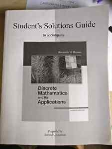 Student's solutions guide for discrete mathematics and its appli