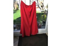 Hamells Red Skirt size 18