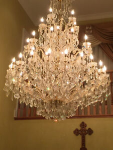 """French Empire Asfour Crystal Chandelier Lighting H90"""" x W58"""""""