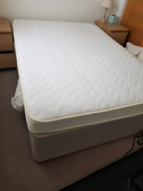 Free! Double divan bed with mattress, 4ft6x6ft3