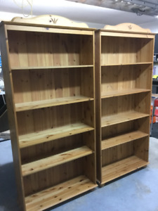 Solid Pine Ikea Billy bookcases