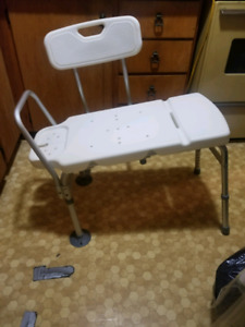 A bathtub seat and toilet 50$ OBO for each. Both are adjustable.