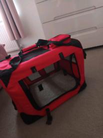 Dog/cat carrier, crate & puppy mat