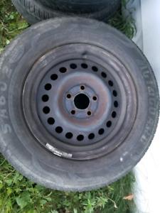 4 Rims  5x100 avec pneus 195 70r14
