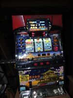 Japanese Slot Machine with Stand and Coins (Skill Stop)