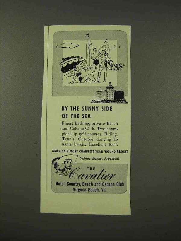 1948 Cavalier Hotel Ad - Virginia Beach, VA