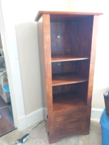 Brown cabinet with cupboard