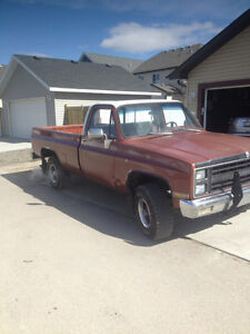 1982 GMC 1/2 ton 4x4, 4 speed manual