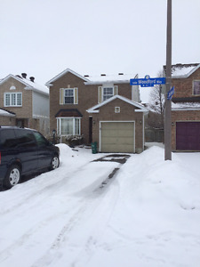 Barrhaven House for Rent (Near Woodroffe and Fallowfield)