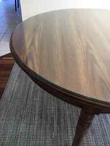 Oval shape wooden dining table with a glass top Windsor Region Ontario image 2