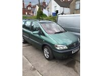 1.8 petrol manual zafira seven seater