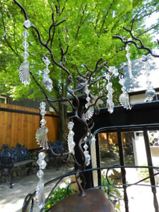 Rustic Flair 2 Twisted Trees +1 Nesting Bird Tree+Herb Hanger