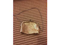 Gold purse bag