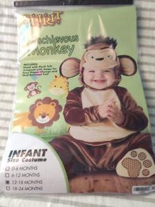 Toddler Halloween monkey costumes
