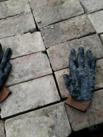 Black quarry floor tiles sometimes known as slips