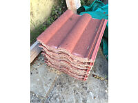 10 * Redland 50 Antique Red Roof Tiles - New & Unused