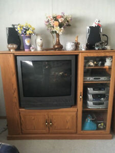 TV. Stand. Stereo